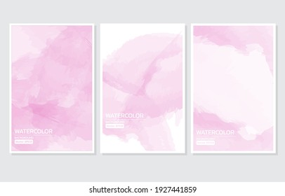 Abstract pink watercolor background isolated.Design for invitation card,background,template,save the date,postcard,banner,business card.Vector illustration texture design