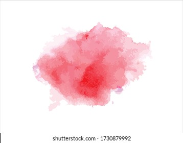 abstract pink watercolor paint stroke background vector illustration texture design