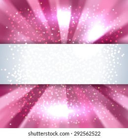 abstract pink waves background with place for text