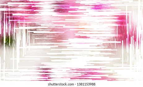 Abstract Pink and White Asymmetric Random Lines Background