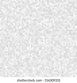 Abstract Pixel Light Gray Background. Vector Illustration