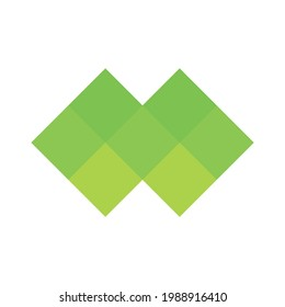 Abstract pixelized mosaic logo design