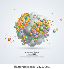 Abstract planet, Composition of balloons