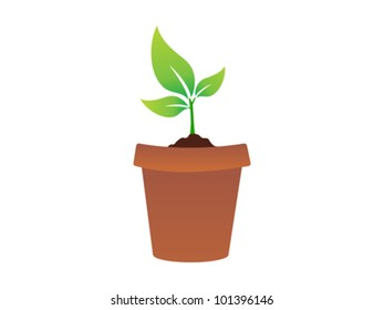 abstract plant icon vector illustration