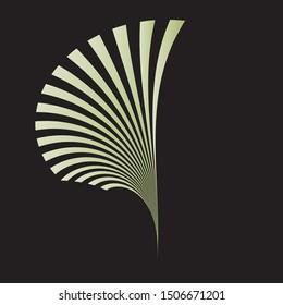 Abstract plant sign, symbol, logo, emblem, icon, trendy geometric pattern, vector modern design element.