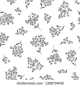 Abstract plants pattern, I designed a plant abstractly,