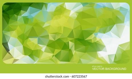 Abstract poligonal background in vector graphics.