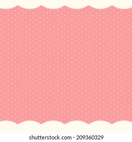 Abstract Polka Dot Background, Vector Illustration