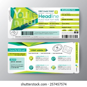 Abstract Polygon design Boarding Pass Event Ticket Invite card vector Template