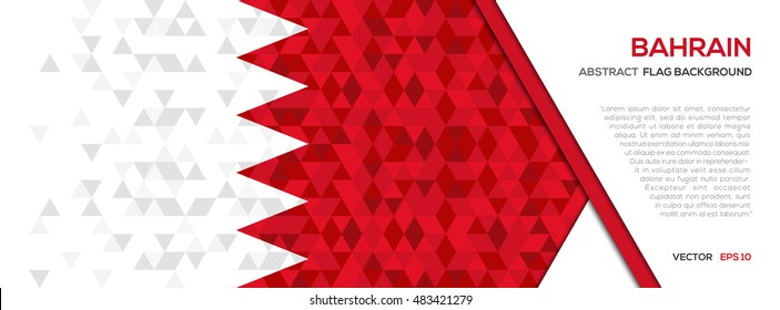 Abstract polygon Geometric Shape background.Bahrain flag