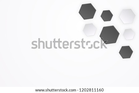 abstract polygon like 3 d football pattern stock vector royalty