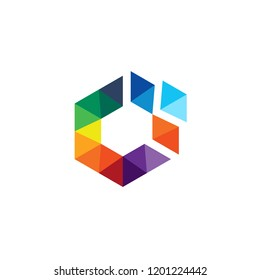 Abstract polygon logo. Modern and Clean.