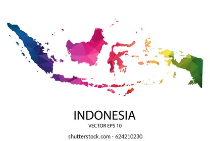 indonesia map images stock photos vectors shutterstock https www shutterstock com image vector abstract polygon map vector illustration low 624210230