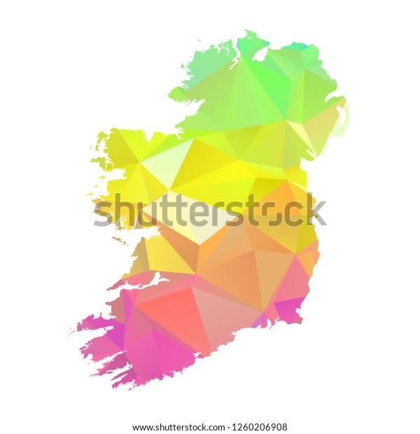 Abstract Polygon Map Vector Illustration Low Stock Vector