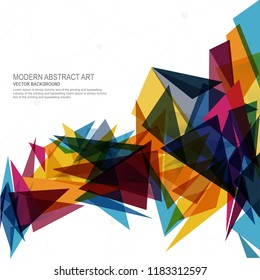 Abstract Polygon Mosaic Background, Vector illustration
