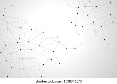 Abstract polygonal background design for business and technology.