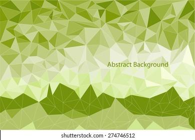 Abstract polygonal background. Green tones. Vector backdrop.