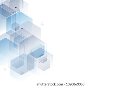 Abstract polygonal background. Hexagon design for medical, business and digital technology vector.
