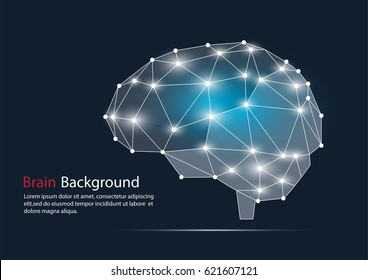 Abstract polygonal Brain background. Vector EPS.10
