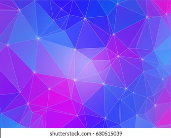 Abstract polygonal colorful background, Low poly light background, Vector