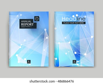 Abstract polygonal composition. Text frame surface. Blue a4 brochure cover design. Title sheet model set. White space star ray icon. Modern vector front page. Ad banner form texture. Flier fiber font