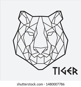 Geometric Tiger Abstract Art