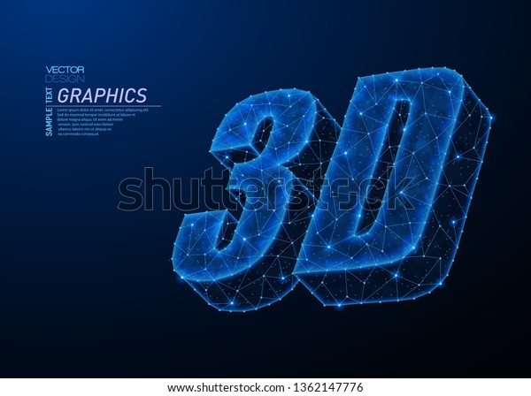 Abstract Polygonal Light Design 3d Word Stock Vector (Royalty Free