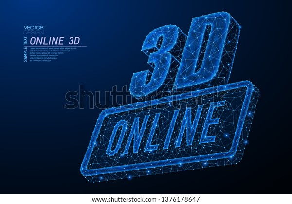 Abstract Polygonal Light Design 3d Online Stock Vector (Royalty Free