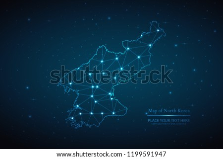 Abstract Polygonal North Korea Map On Stock Vector Royalty Free