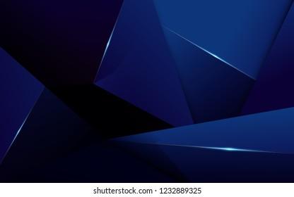 Abstract polygonal pattern luxury dark blue background