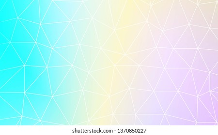Abstract polygonal pattern with triangles template. Design for flyer, wallpaper, presentation, paper. Vector illustration. Creative gradient color