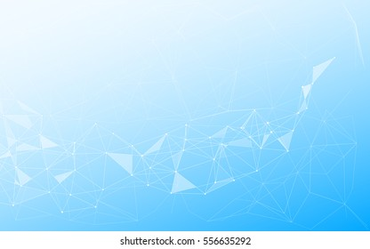 Abstract Polygonal Space Background with Connecting Dots and Lines. Low Poly Vector Illustration