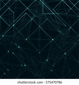Abstract polygonal space. Background with connecting dots and lines. The concept illustration.