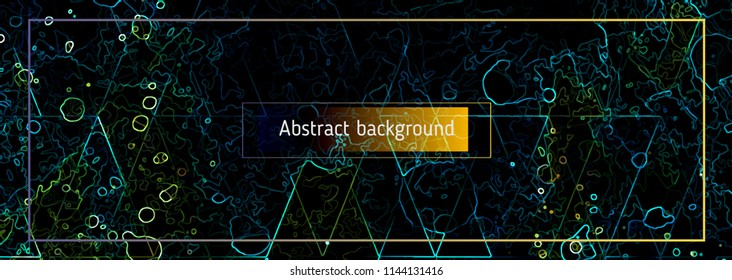 Abstract polygonal space low poly dark background Vector science background. Polygonal vector background. Futuristic HUD background.