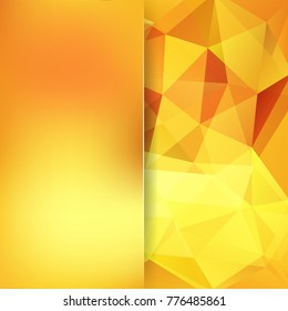 Abstract polygonal vector background. Geometric vector illustration. Creative design template. Abstract vector background for use in design. Yellow, orange colors.