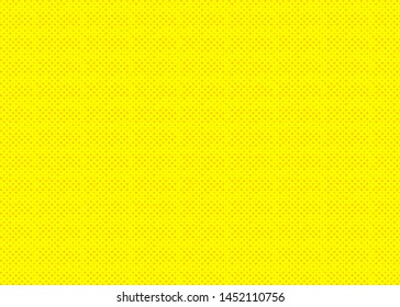 Abstract pop art background yellow color in halftone cartoon style for retro illustration, vintage design, comics banner, decoration, video, poster, book. Vector 10 eps