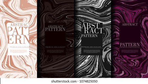 Abstract pop art pattern marble element classy background template collection vector design
