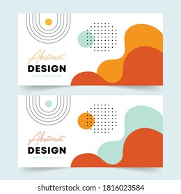 Abstract poster. Flyer design. Modern banner, Email ad newsletter layouts. Contemporary background. Vector illustrations of shapes