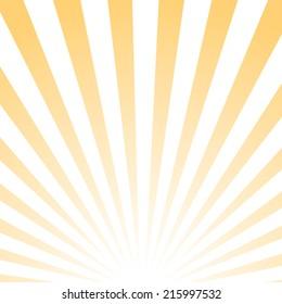 Abstract poster, sunrise pattern, vector illustration