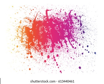 Abstract powder splatted background. Multi-color powder explosion on white background. Colored cloud. Colorful dust explode.