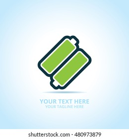 Abstract power logo, design concept, emblem, icon, flat logotype element for template.