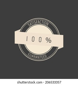 abstract premium label on a gray background