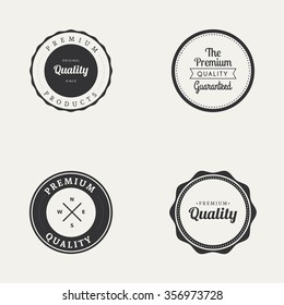 Abstract premium quality labels on a white background