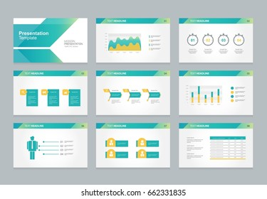 abstract presentation slide template design background  and page layout for brochure,book,report, with flat vector infographic elements design