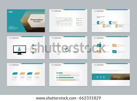 abstract presentation slide template design background stock vector