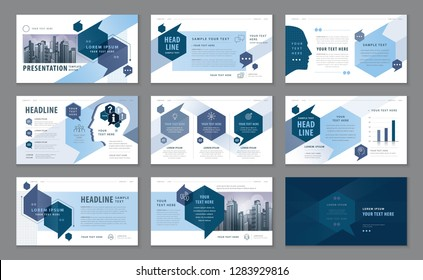 Abstract Presentation Templates, Infographic Blue elements Template design set for Brochures, flyer, leaflet, magazine, invitation card, annual report, Questions and Answers, social talk bubbles.