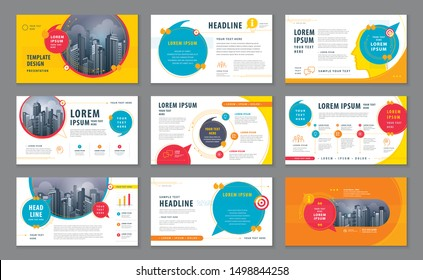 Abstract Presentation Templates, Infographic Colorful elements Template design set for Brochures, flyer, leaflet, , invitation card, report, Questions and Answers, social networks, speech bubble, talk