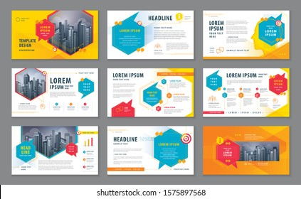 Abstract Presentation Templates, Infographic Colorful elements Template design set for Brochures, flyer, leaflet, Website design, Webpage, Questions and Answers, social networks, speech bubble, talk.