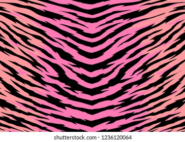 Abstract print animal pattern. Zebra, tiger stripes vector