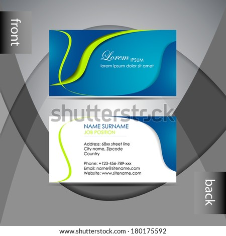 Abstract professional business card template visiting stock vector abstract professional business card template or visiting card setdesign for publishing print and friedricerecipe Choice Image